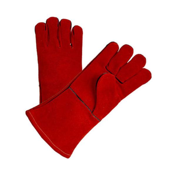 LEATHER PREMIUM RED WELDING GLOVES